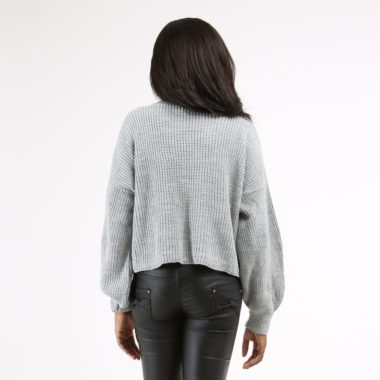 Balloon Sleeve Knitted Pullover