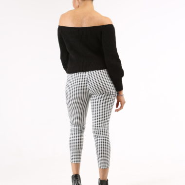 The French 95 - Swiss online shopping for women's fashion - Shop high waist check trousers at affordable prices - Free shipping in Switzerland, pay per invoice, 20% off your first order with code FIRST20
