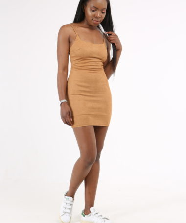 The French 95 - Swiss online shopping for women's fashion - Shop the best suede dress at affordable prices - Free shipping in Switzerland, pay per invoice, 20% off your first order with code FIRST20