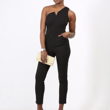 Asymmetric One Shoulder Jumpsuit