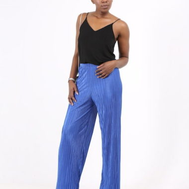 Loose Pleated Trousers – Blue