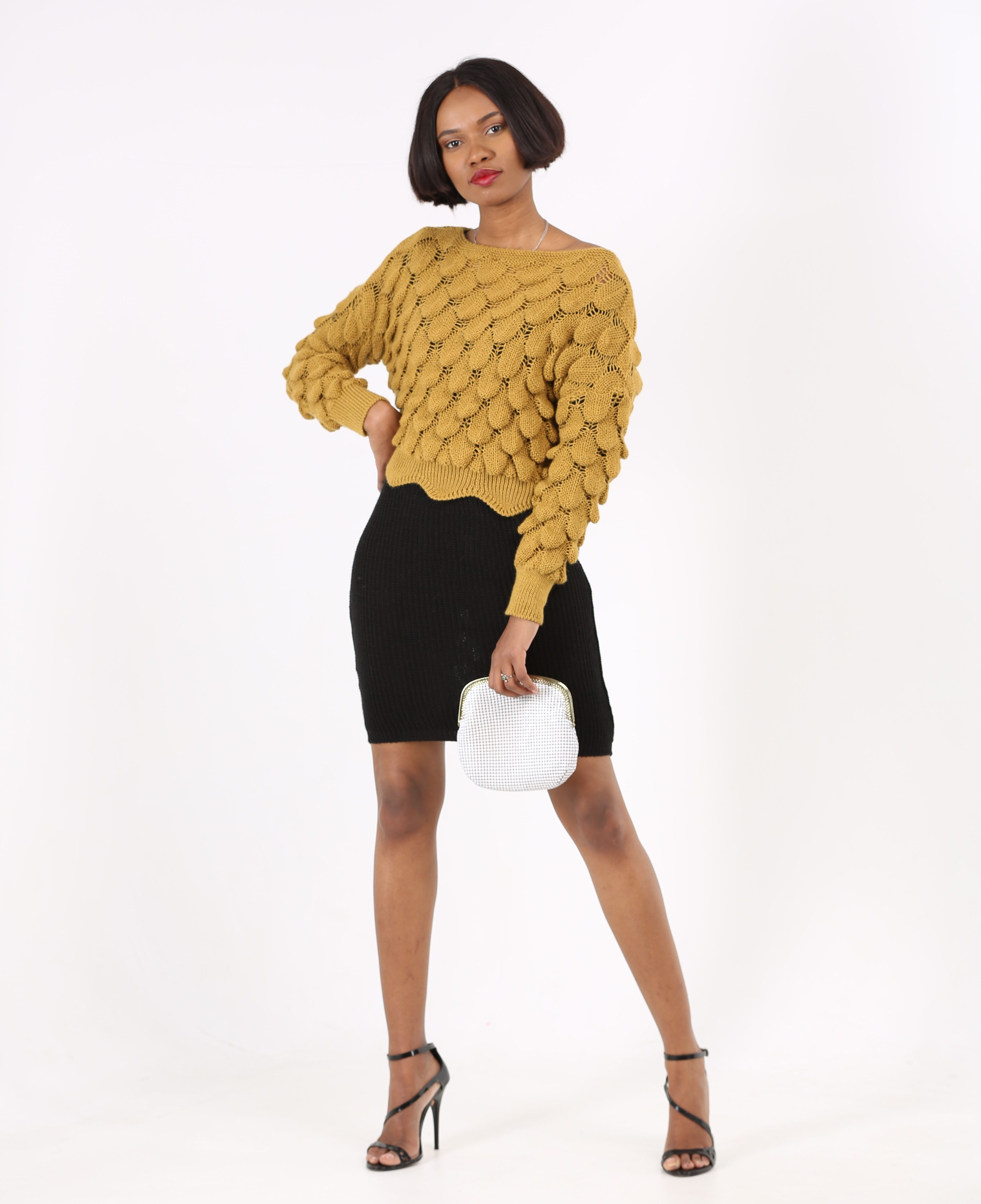 Textured Ribbed Pullover