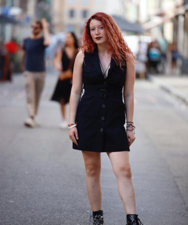 Black Short Trench Dress