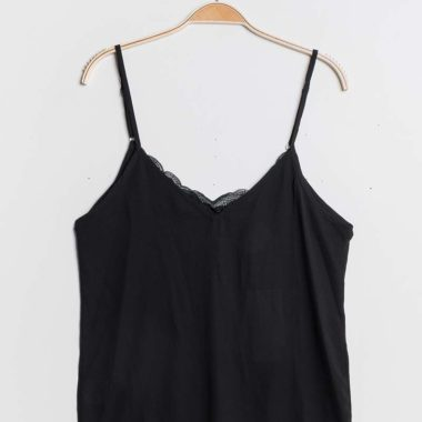 Mixed Fabric Cami Top
