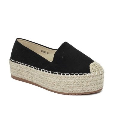 Black Espadrilles Wedges