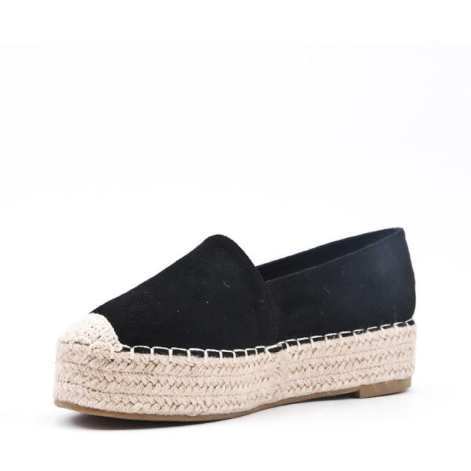 Black High Espadrilles Canva