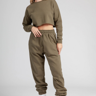 Fleece Joggers – Khaki