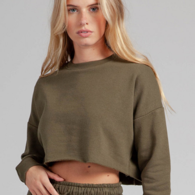 Oversize Crop Sweater – Khaki