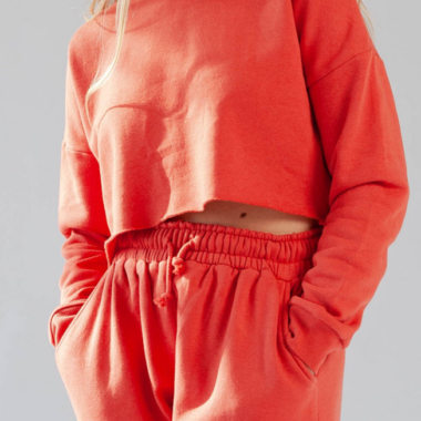 Oversize Crop Sweater – Red