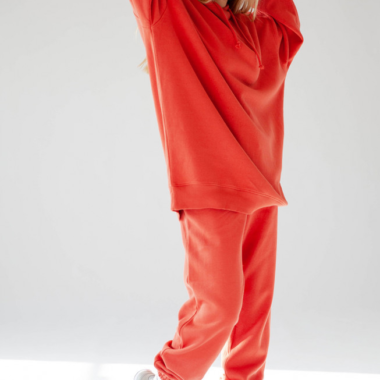 Long Oversize Hoodie – Red