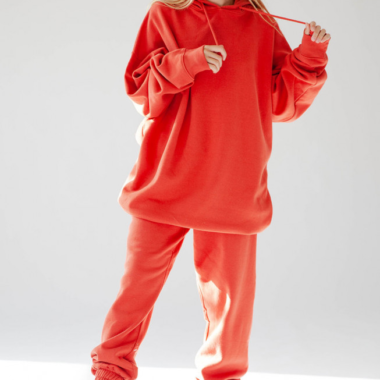 Fleece Jogging Set – Red