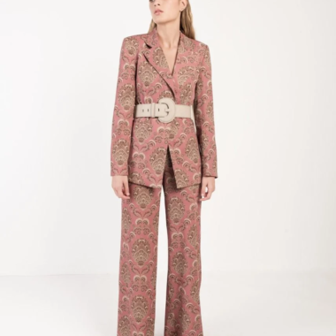 Printed Trousers Suit