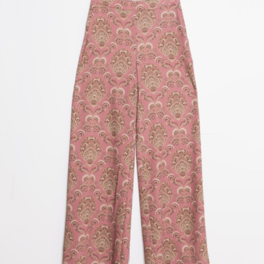 Printed Wide Leg Trousers