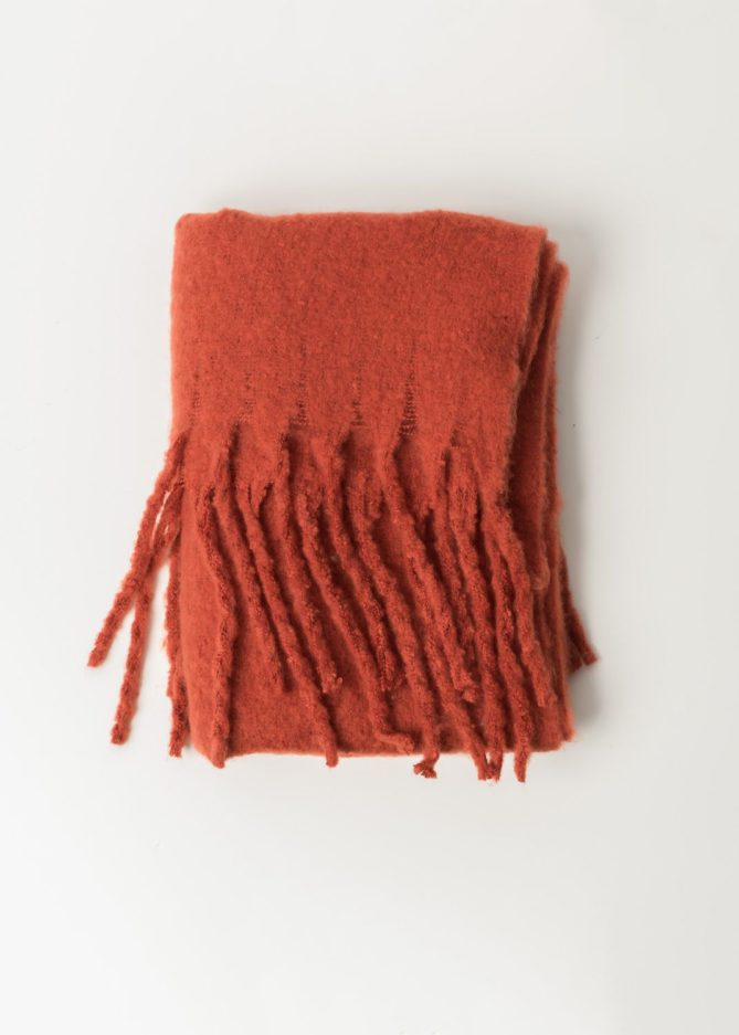Red Long Scarf