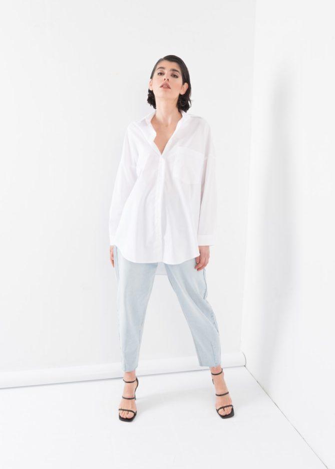 White Classic Oversize Shirt