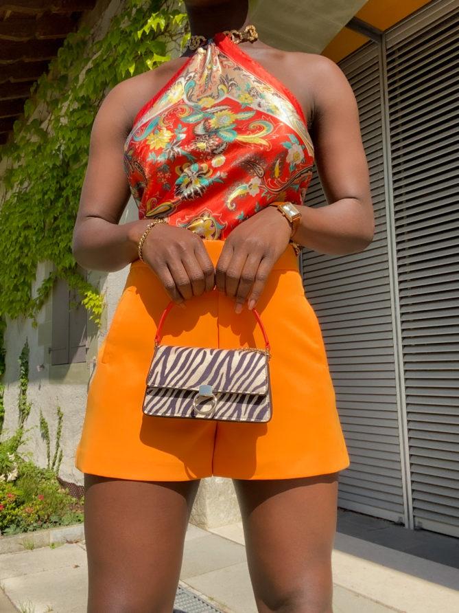 Orange Classic Suit Shorts