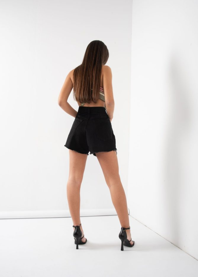 Black Darted Shorts