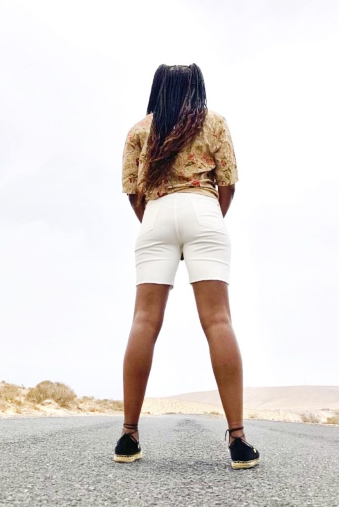 White Jeans Bermuda Shorts - Denim Collection