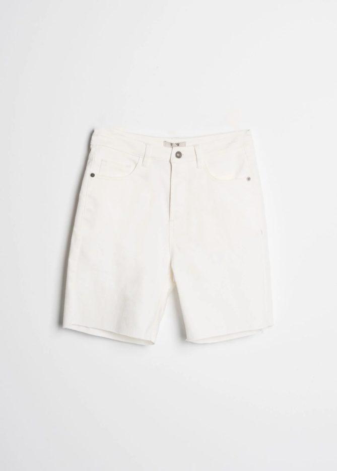 White Jeans Bermuda Shorts