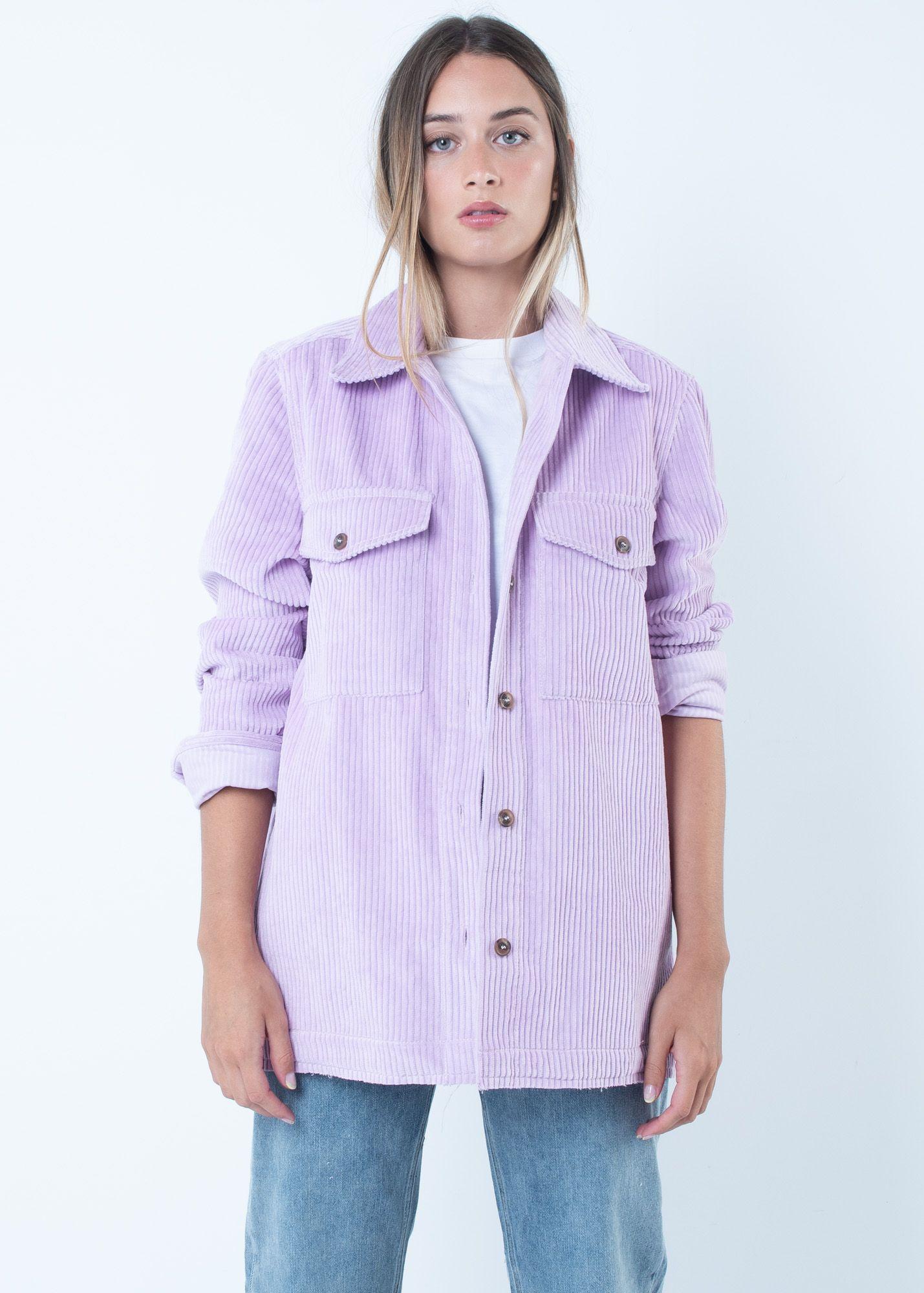 Lilac Corduroy Jacket